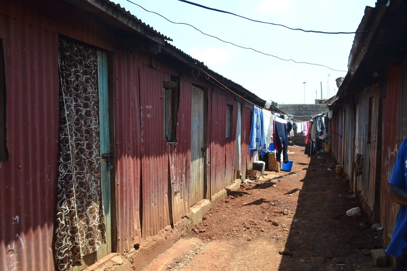 The Nairobi slum where Collins lived