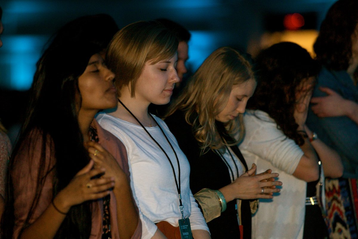 Annually, over 1,000 individuals from around the world gather at IJM's Global Prayer Gathering in Washington, DC to pray for an end to violence against the poor, including rescue and restoration for victims of slavery, human trafficking, child sexual abuse, property grabbing, police abuse of power and citizenship rights abuses.