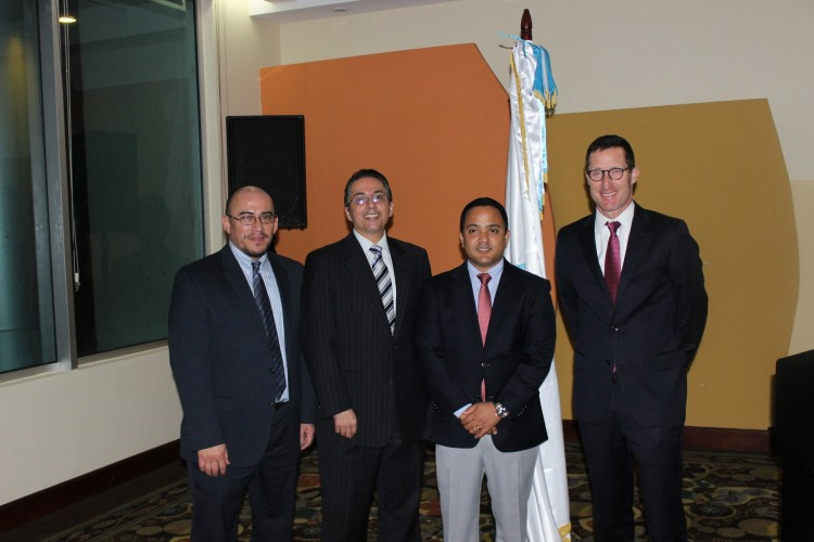 IJM Vice President of Regional Operations for Latin America Pablo Villeda, IJM Dominican Republic Director Fernando Rodriguez, Public Ministry head of anti-trafficking unit Magistrate Jonathan Baro, IJM Senior Vice President of Justice Operations Sean Litton.