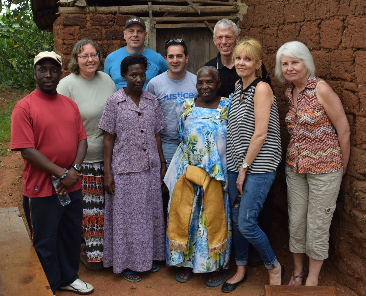 Juliana, her daughter Harriet, IJM staff and Canadian donors.
