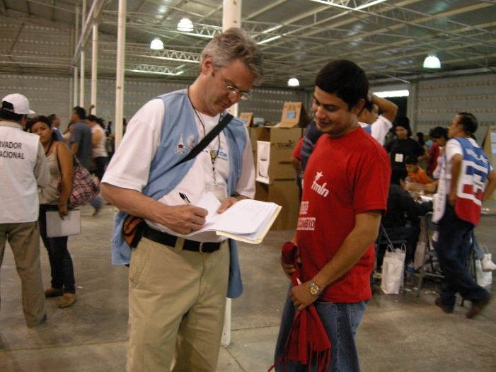 On two occasions, Kevin has served as an international observer at presidential elections in El Salvador.